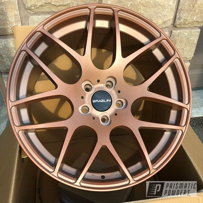 "Powder Coating: Wheels,Braelin Wheels,Automotive,18"",18"" Wheels,Copper Coin PPB-7009"