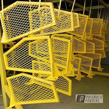 Powder Coated Yellow Industrial Grates