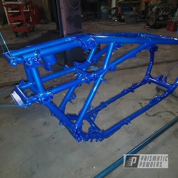 Powder Coated Blue Custom Frame