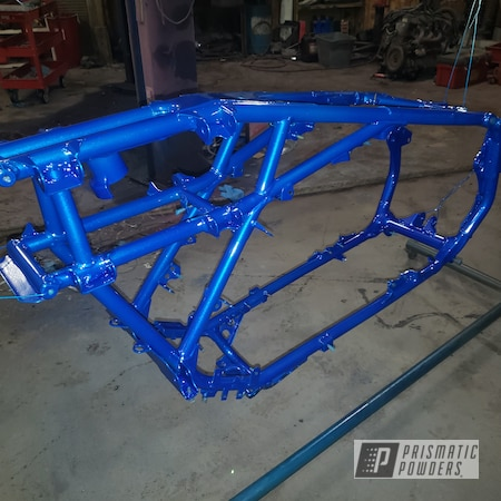 Powder Coating: Automotive,Clear Vision PPS-2974,Custom Frame,Illusion Blueberry PMB-6908
