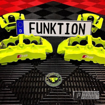 Powder Coated Neon Yellow Rs Brake Calipers