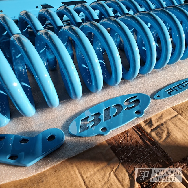 Powder Coating: Automotive,Clear Vision PPS-2974,Powder Blue PSS-4009,Truck Suspension,Suspension