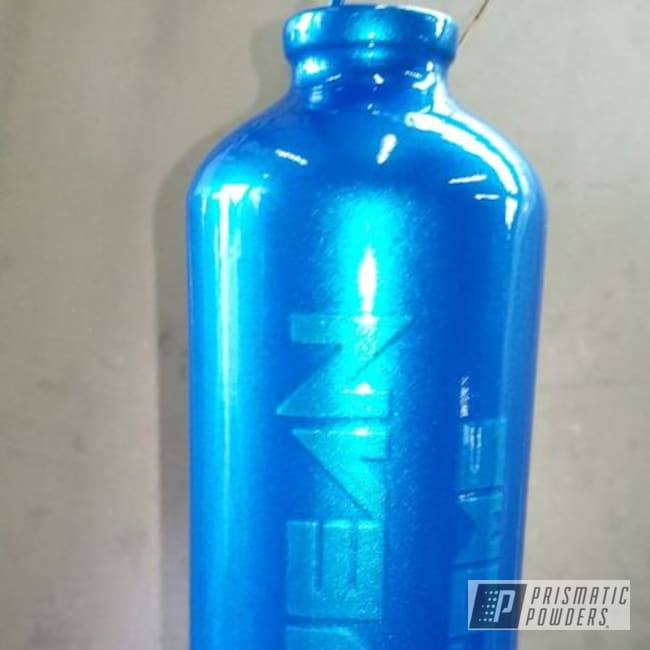 Powder Coating: Custom Cups,Clear Vision PPS-2974,Illusion Lite Blue PMS-4621,Water Bottle