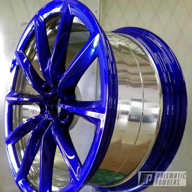 Powder Coating: Wheels,Automotive,Custom Powder Coated Automotive Wheel,Intense Blue PPB-4474