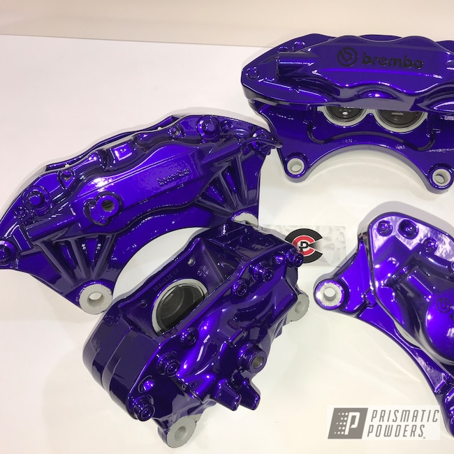Powder Coating: Illusion Purple PSB-4629,Automotive,Turbo Parts,Clear Vision PPS-2974,Brake Calipers,Illusion Violet PSS-4514,Valve Cover,Automotive Parts