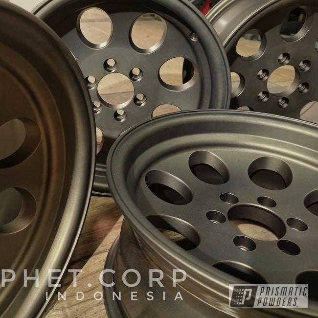 "Powder Coating: Wheels,Automotive,Bronze Chrome PMB-4124,16"" Wheel,Casper Clear PPS-4005"