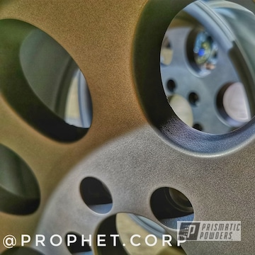 Powder Coated Bronze 16 Inch Custom Wheels
