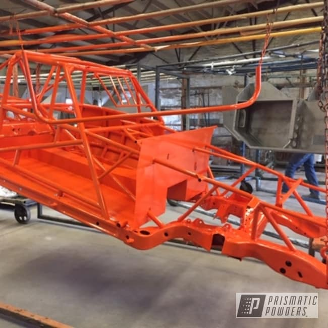 Powder Coated Orange Race Car Chassis