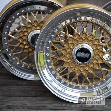 Wheel Centers Coated In Prismatic Gold
