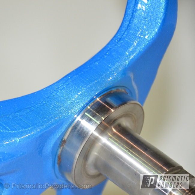 Powder Coating: Automotive,Steering Spindle,Clear Vision PPS-2974,Illusion Lite Blue PMS-4621,240SX