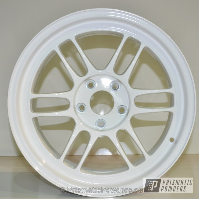 Powder Coating: Wheels,Clear Vision PPS-2974,Gloss White PSS-5690