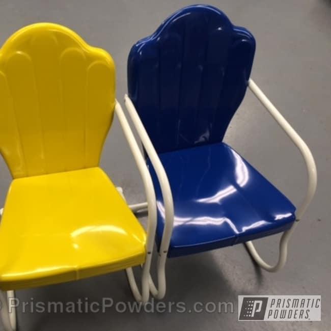 Boron Blue With Hot Yellow And Polar White