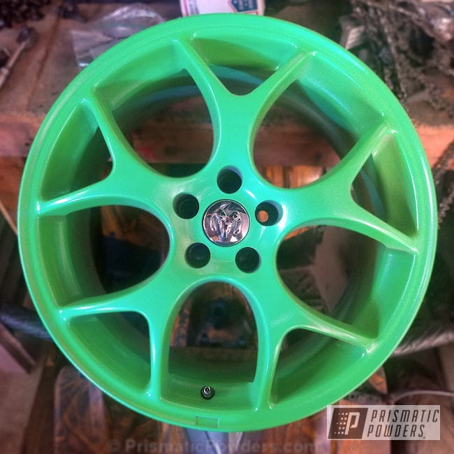 Powder Coating: Wheels,Automotive,Limelite PMB-0869,Dodge,TSW VX1