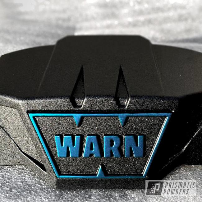 Powder Coating: HAWAIIAN TEAL UPB-1736,WARN Winch,Teridium Texture PTB-6696,Automotive,Custom 2 Coats,Textured,WARN Industries,Miscellaneous
