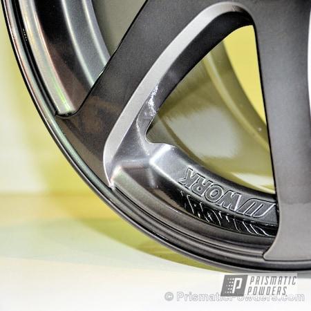 Powder Coating: Wheels,Black Chrome II PPB-4623,Automotive,Clear Vision PPS-2974,SUPER CHROME USS-4482,chrome,Work Wheels,2 layers of Black Chrome