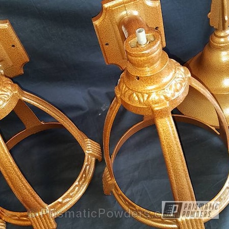 Powder Coating: Coppersun River PRB-2826,Single Powder Application,Patio Lamp Tops,Textured,Miscellaneous