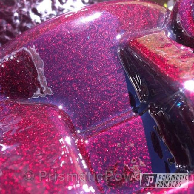 Powder Coating: Automotive,Dodge Cummins,Clear Vision PPS-2974,Dodge,Illusion Malbec PMB-6906,Brake Caliper
