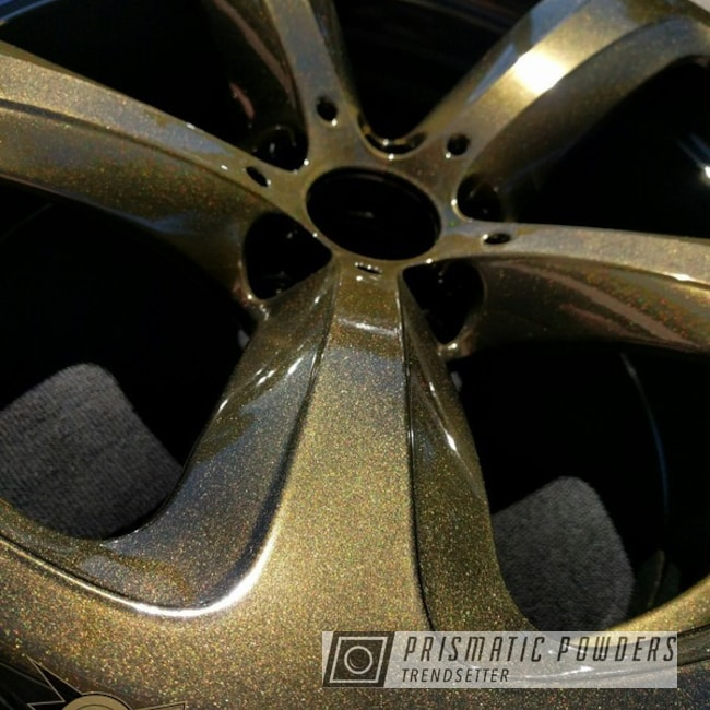 Bmw Wheels Done In Brilliant Gold Over Ink Black