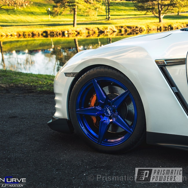Powder Coating: Wheels,Automotive,Incurve Custom Wheels,Bentley Blue PPB-4711