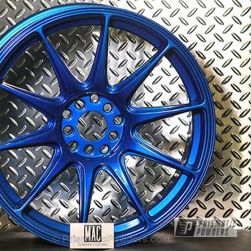 Booty Blue Over Polished Aluminum