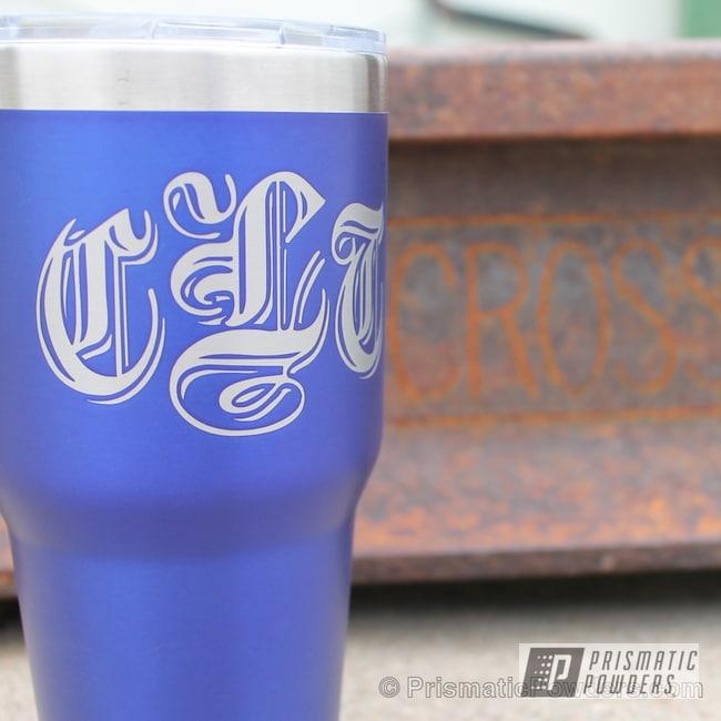 Powder Coating: MATTE CLEAR PPB-4509,Tumbler,Tumbler Cup,Intense Blue PPB-4474,Custom Logo,Miscellaneous