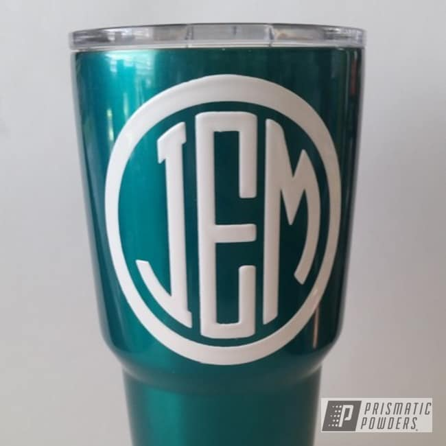 Powder Coating: Tumbler,JAMAICAN TEAL UPB-2043,White PSB-6893,Miscellaneous