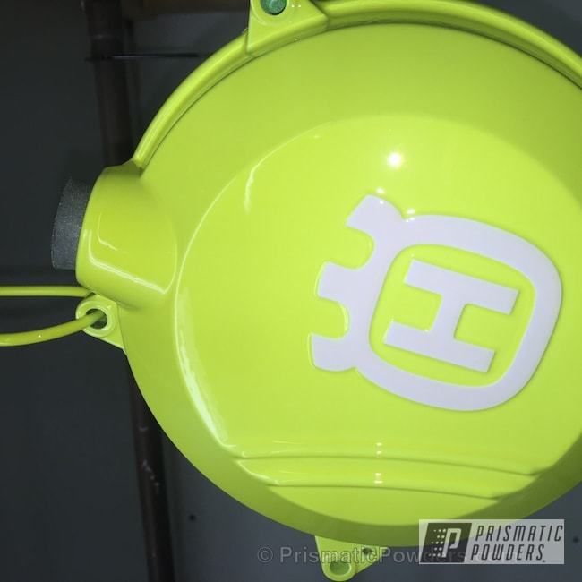 Powder Coating: Clear Vision PPS-2974,Polar White PSS-5053,Neon Yellow PSS-1104,Engine Components,motorcycle,Motorcycles,Engine Cover