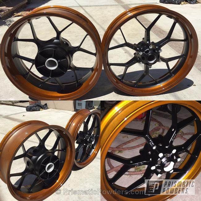Powder Coating: Illusion Caramel(Discontinued) PMB-6922,Clear Vision PPS-2974,BLACK JACK USS-1522,Custom Wheels,Motorcycle Wheels,Motorcycles