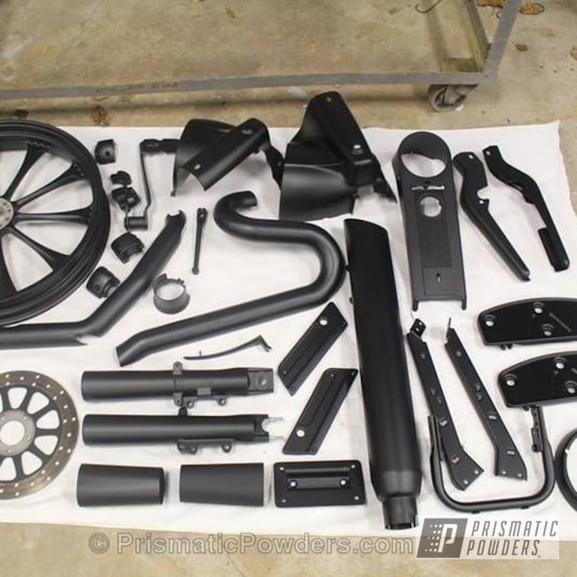 Powder Coating: Flatter Black ESS-4441,Motorcycles