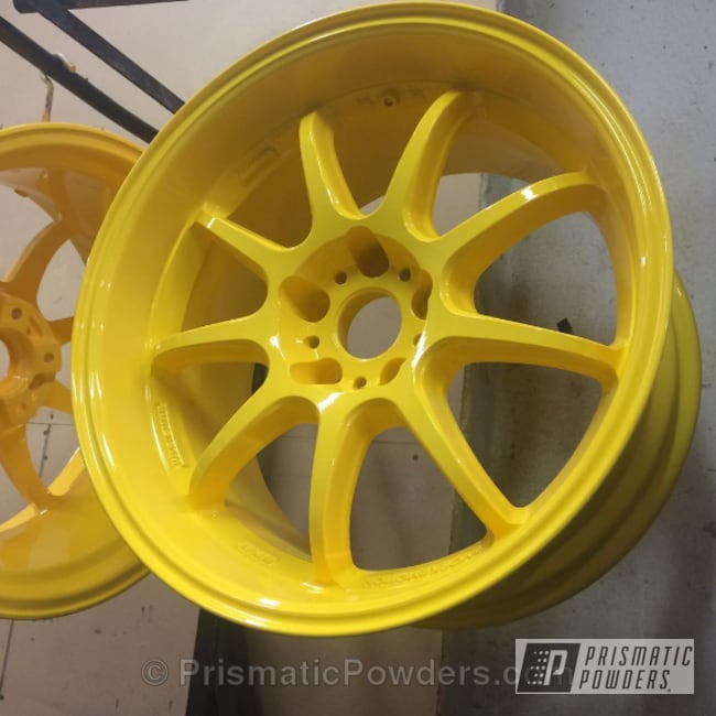 Powder Coating: Wheels,Automotive,Electric Yellow PSS-2834