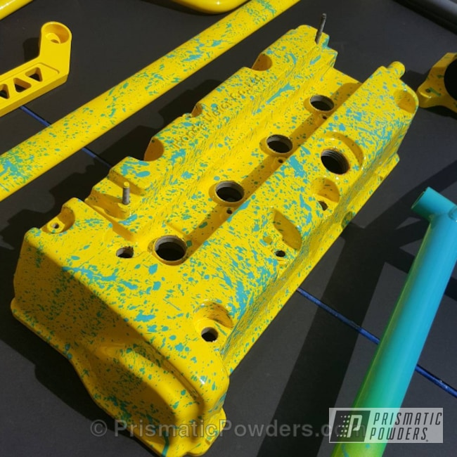 Powder Coating: Automotive,Engine Components,Engine Parts,Electric Yellow PSS-2834,Valve Cover