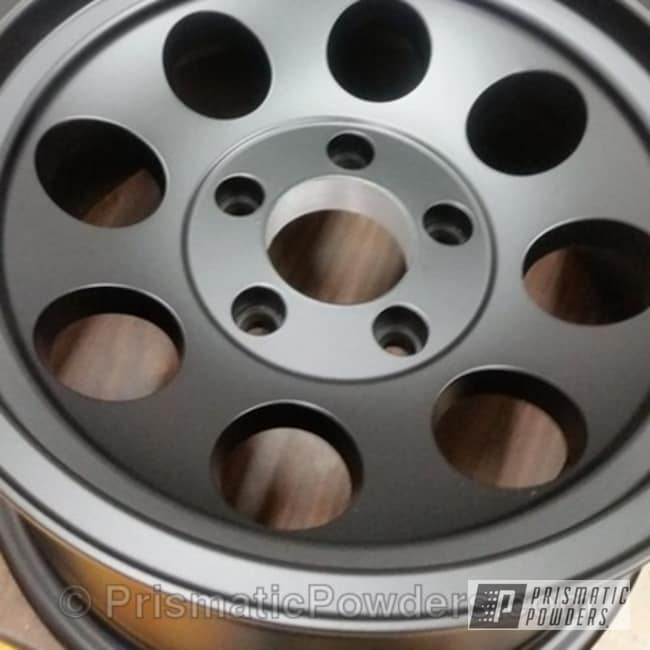 Off-road Rims In A Blackboard Powder Coat Finish