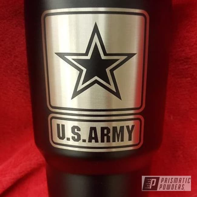 Us Army Themed Cup Coated In A Blackboard Finish