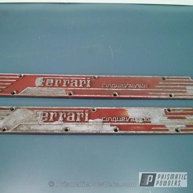 Powder Coating: Automotive,Ferrari,Desert Red Wrinkle PWS-2762,Valve Cover