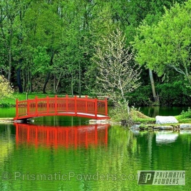 Powder Coating: Red Wheel PSS-2694,Park Bridge,Miscellaneous
