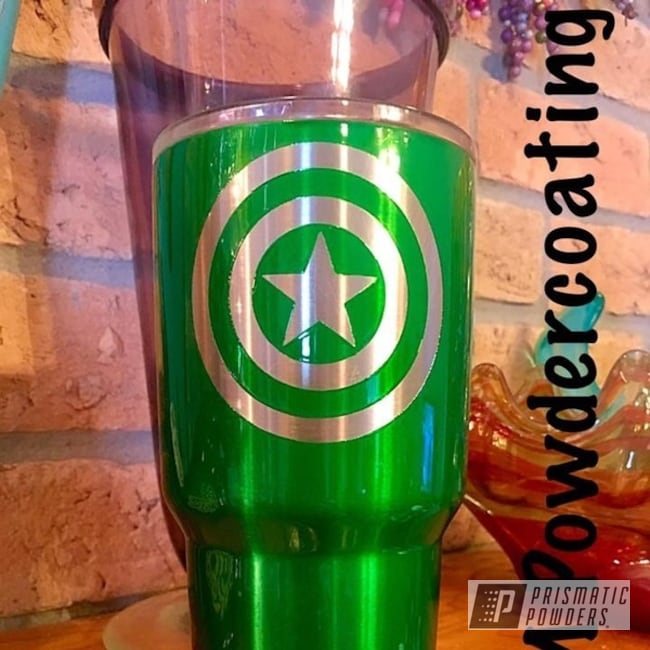 Powder Coating: Tumbler,Psycho Green PPB-4658,Captain America,Miscellaneous