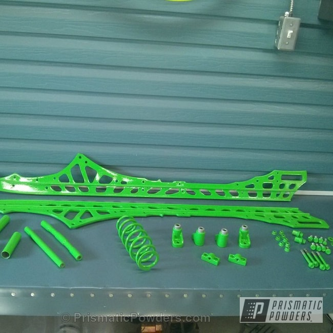 Powder Coating: Clear Vision PPS-2974,Snowmobile Parts,Racer Green PSS-4531,Miscellaneous
