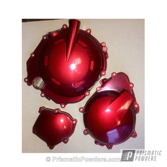 Powder Coating: Motorcycle Parts,CRIMSON RED UPB-1163,Motorcycles