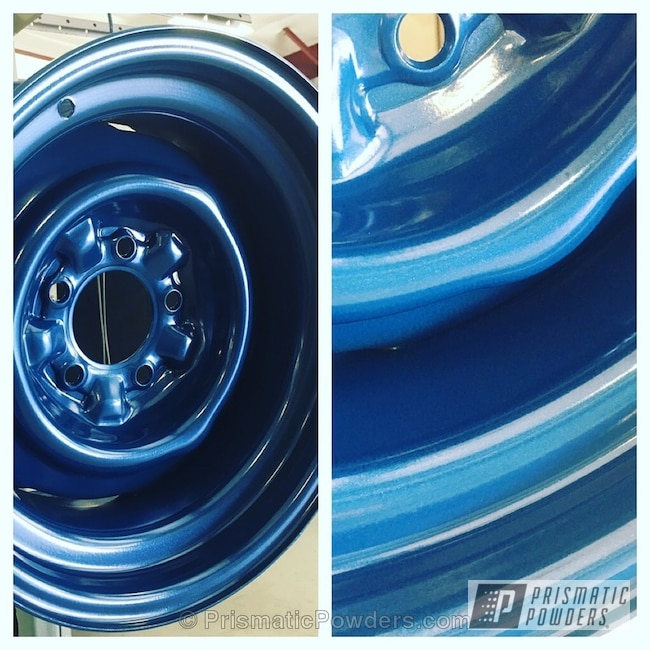Powder Coating: Automotive,Custom Wheels,Corvette,Reflex Blue PMB-1710,Corvette Wheels