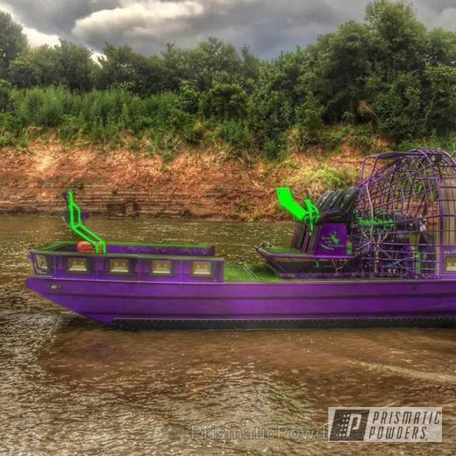 Powder Coating: Clear Vision PPS-2974,Airboat,Heavy Silver PMS-0517,Chic Purple PPB-2203,Custom 2 Coats,watercraft