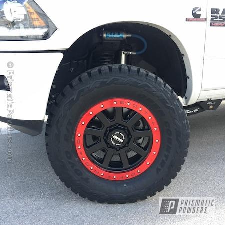 Powder Coating: Single Powder Application,Wheels,Automotive,MIXED BERRY UPB-5992,Custom Wheels