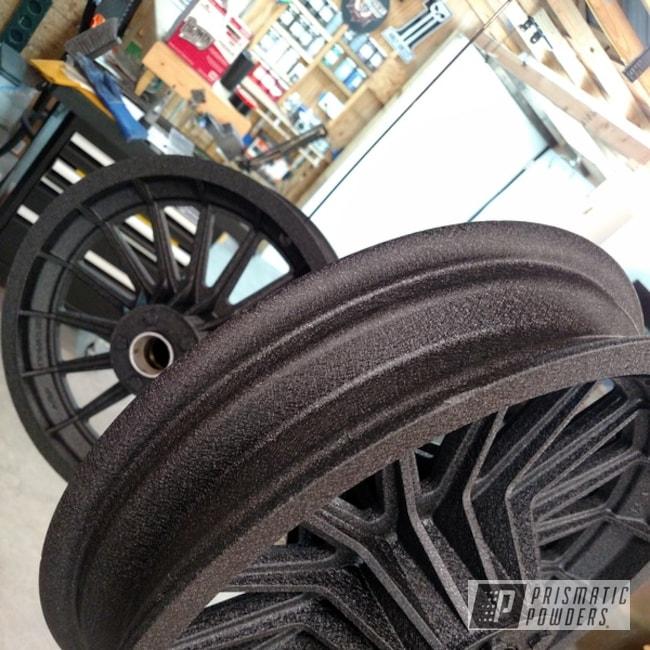 Powder Coating: Splatter Black PWS-4344,Motorcycles,Shovelhead