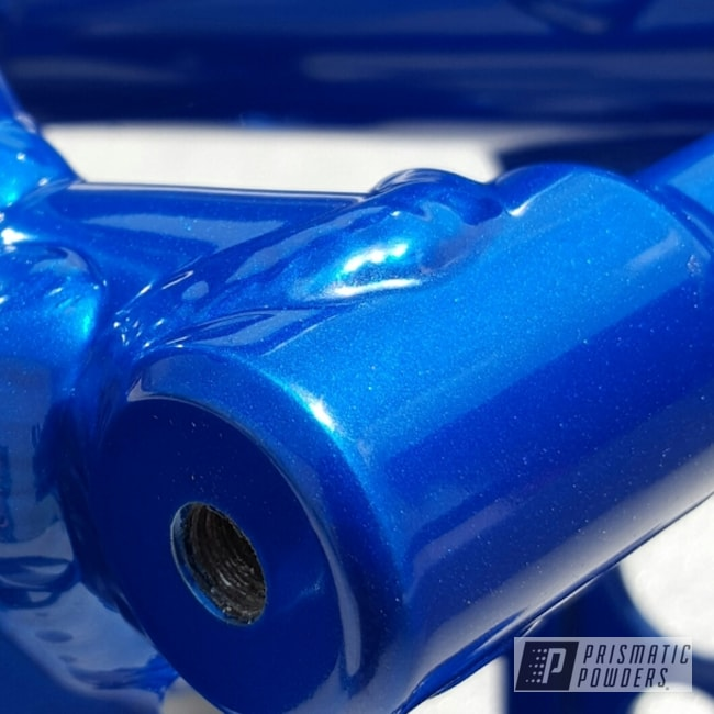 Powder Coating: ATV Frame,SUPER CHROME USS-4482,ATV,chrome,ROYALTON BLUE UPB-2082