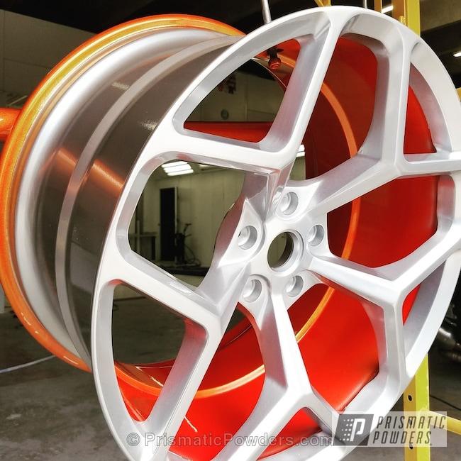 Powder Coating: Wheels,Clear Vision PPS-2974,Custom Wheel,3 Stage,camero,Hot Orange Sparkle PMB-6311