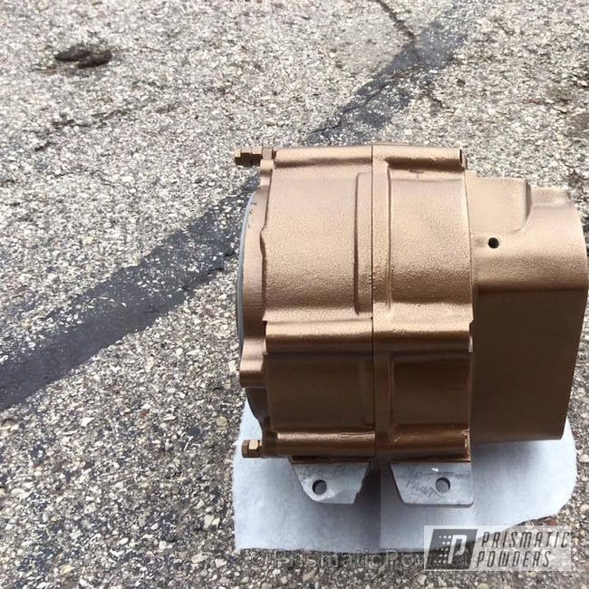 Powder Coating: US Bronze Leather PLB-2097,Motorcycles,motorcycle case