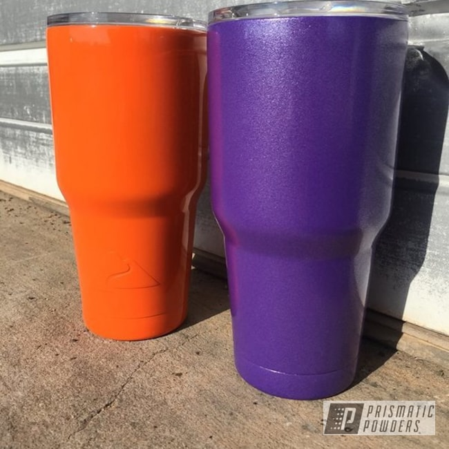 Powder Coating: Tumbler,Stainless Steel,Purple,powder coated,Just Orange PSS-4045,Orange,Pro-Cosmic Purple PMB-1982,Miscellaneous