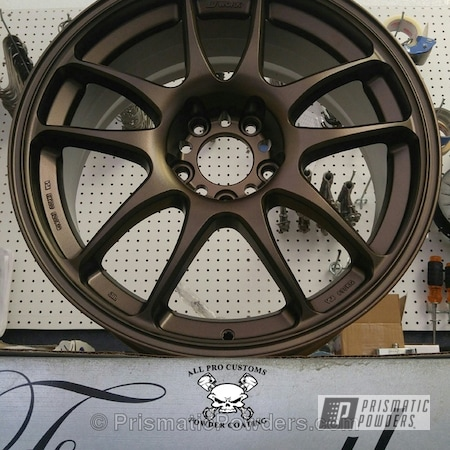 Powder Coating: Wheels,Bronze,TRIPLE BRONZE UMB-4548,powder coated