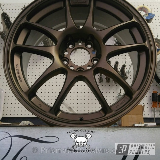 Powder Coating: Wheels,Bronze,TRIPLE BRONZE UMB-4548,powder coated