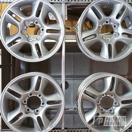 Powder Coating: Wheels,Silver,BMW Silver PMB-6525,powder coated