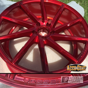 Rancher Red Over Polished Aluminum With Clear Vision Top Coat